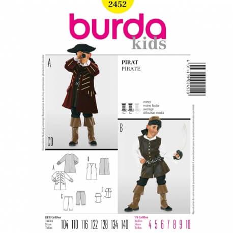 Patron déguisement enfant pirate - Burda 2452