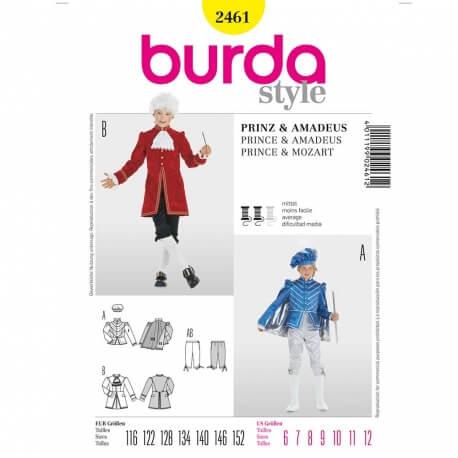 Patron déguisement enfant Prince & Mozart - Burda 2461