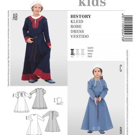 Patron déguisement enfant robe historique - Burda 9473
