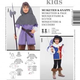 Patron déguisement enfant Mousquetaire & Ecuyer - Burda 9659