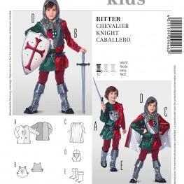 Patron déguisement enfant Chevalier - Burda 9446