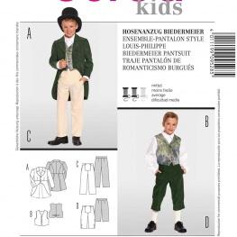 Patron déguisement enfant ensemble 17ème siècle - Burda 9528