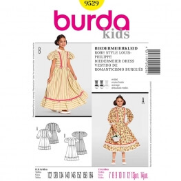 Patron déguisement enfant robe style Louis Philippe - Burda 9529