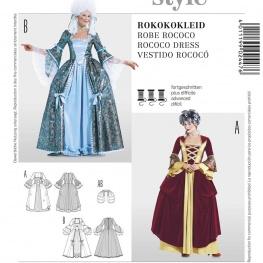 Patron déguisement femme robe rococo - Burda 2447