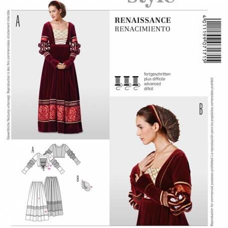 Patron déguisement femme robe renaissance - Burda 7171