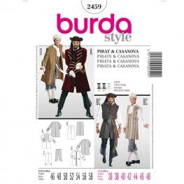 Patron déguisement homme pirate & casanova - Burda 2459