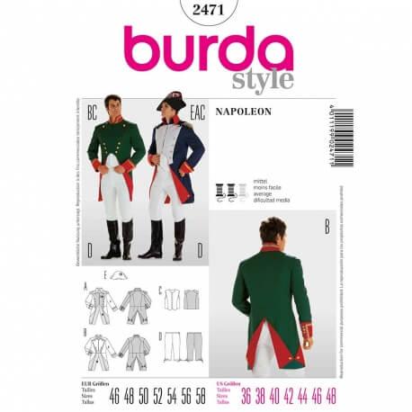 Patron déguisement homme Napoleon - Burda 2471