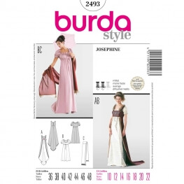 Patron déguisement femme robe Josephine - Burda 2493