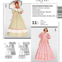 Patron déguisement femme robe style Louis-Philippe - Burda 7466