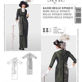 Patron déguisement femme robe historique belle époque - Burda 2768