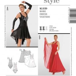 Patron déguisement femme robe spectacle - Burda 7879