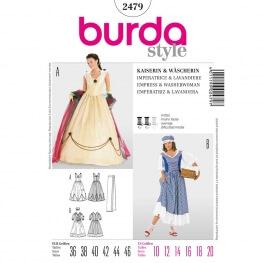 Patron déguisement femme robe impératrice & lavandière - Burda 2479