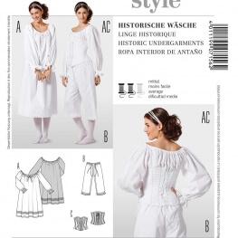 Patron lingerie historique - Burda 7156