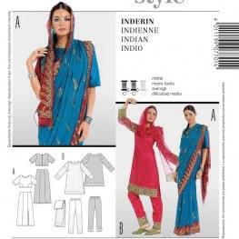 Patron déguisement femme indienne - Burda 7701