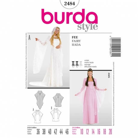 Patron déguisement femme robe de fée - Burda 2484