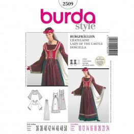 Patron déguisement femme robe châtelaine - Burda 2509