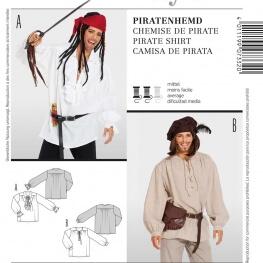 Patron déguisement homme chemise de pirate - Burda 7332