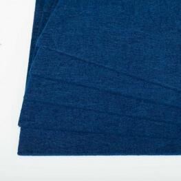 Plaque de feutrine épaisseur 1mm - 25cm x 30cm - Bleu marine