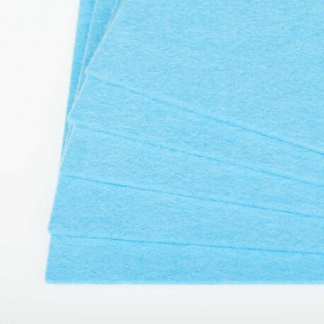 Plaque de feutrine épaisseur 3mm - 25cm x 30cm - Bleu