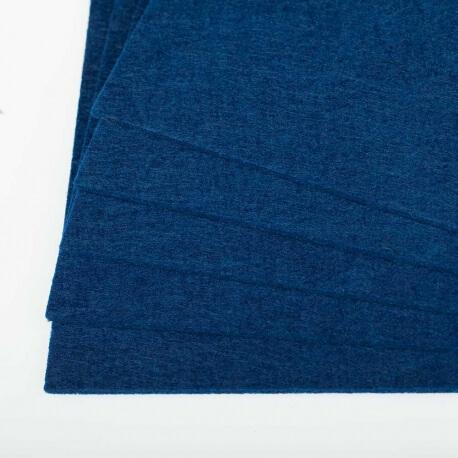 Plaque de feutrine épaisseur 3mm - 25cm x 30cm - Bleu marine