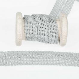 Ganse tresse pré-pliée - Gris perle