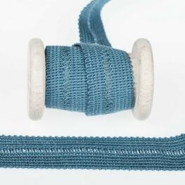 Ganse tresse pré-pliée - Bleu