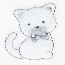 Ecusson chat blanc