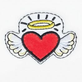 Ecusson ange coeur