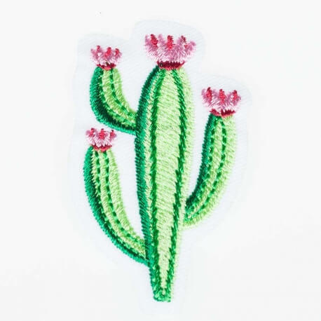 Ecusson cactus fleuri