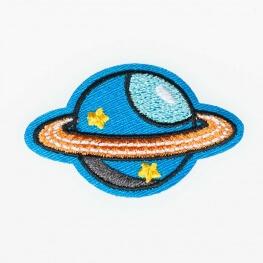 Ecusson dans l'espace - Planète
