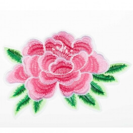 Ecusson XL fleurs rose