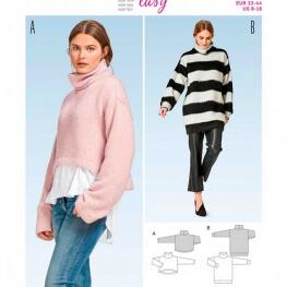 Patron pullover femme - Burda 6476