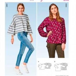 Patron blouse femme - Burda 6477