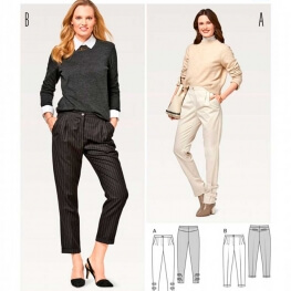 Patron de pantalon à pinces femme - Burda 6472