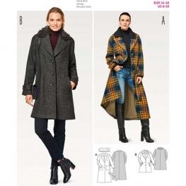 Patron manteau femme - Burda 6462