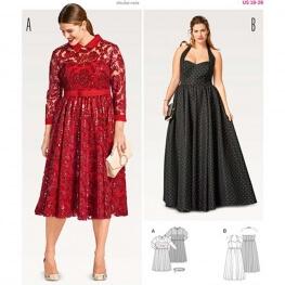 Patron de robe bustier femme - Burda 6487