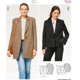 Patron veste blazers femme - Burda 6463