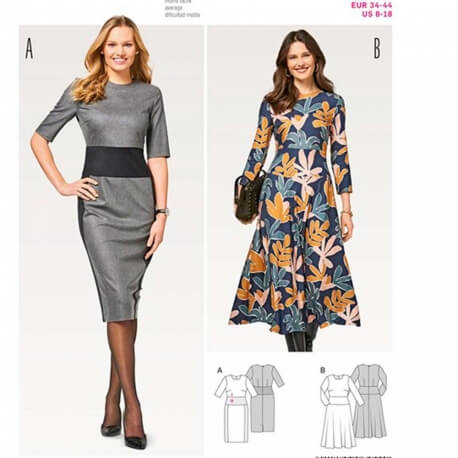 Patron de robe femme - Burda 6454