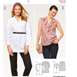 Patron de blouse femme - Burda 6456