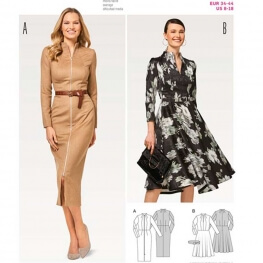 Patron de robe femme - Burda 6452