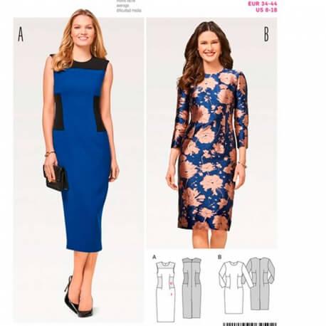Patron de robe femme - Burda 6450