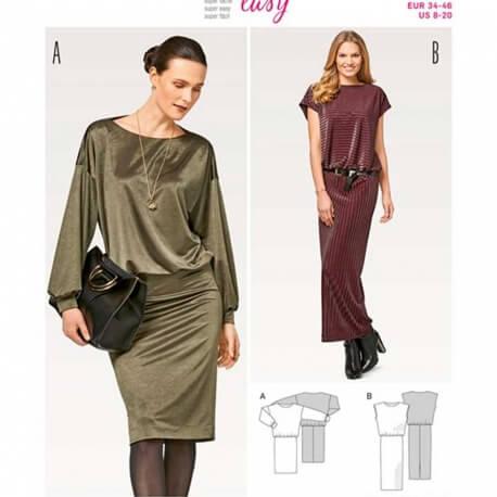 Patron de robe femme - Burda 6453