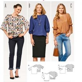 Patron de blouse femme - Burda 6458