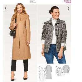 Patron manteau femme - Burda 6461