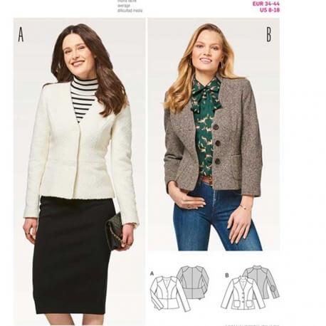 Patron veste femme - Burda 6464