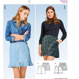 Patron mini jupe femme - Burda 6480