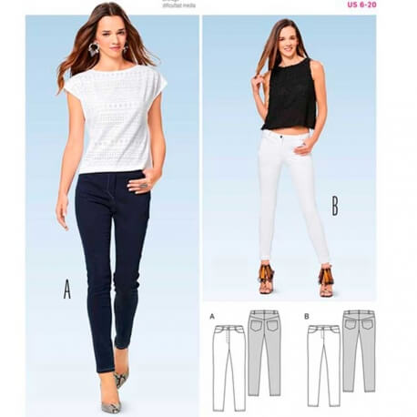 Patron de pantalon slim femme - Burda 6543