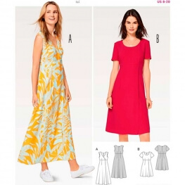 Patron de robe femme - Burda 6496