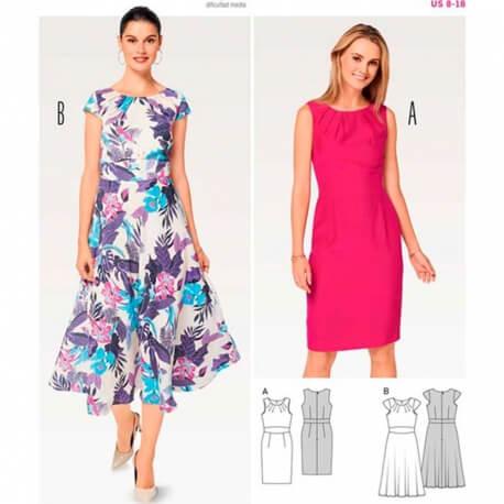 Patron de robe femme - Burda 6529