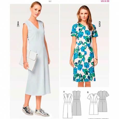 Patron de robe femme - Burda 6511